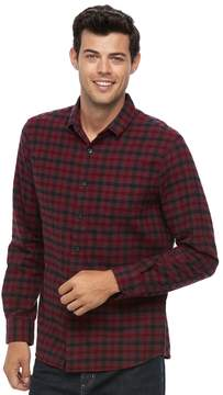 Apt. 9 Men's Modern-Fit Plaid Brushed Flannel Button-Down Shirt