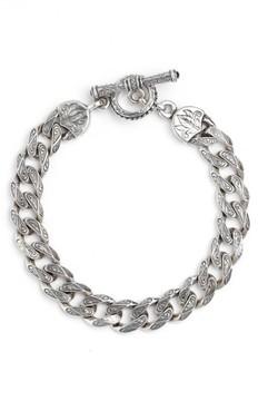 Konstantino Men's Silver Classics Etched Link Bracelet
