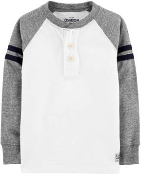 Osh Kosh Oshkosh Bgosh Toddler Boy Striped Raglan Henley Top