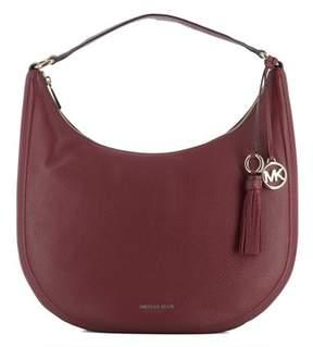 Michael Kors Women's Burgundy Leather Handbag. - RED - STYLE