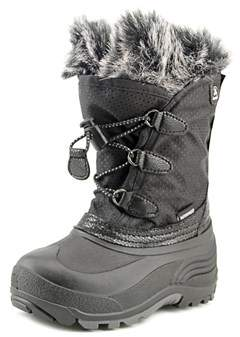 Kamik Powdery Youth Round Toe Canvas Black Snow Boot.