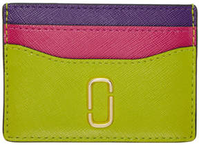 Marc Jacobs Green and Pink Snapshot Card Holder