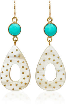 Ashley Pittman Bendi Horn and Turquoise Earrings