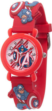 Marvel Avengers Boys Red Strap Watch-Wma000155