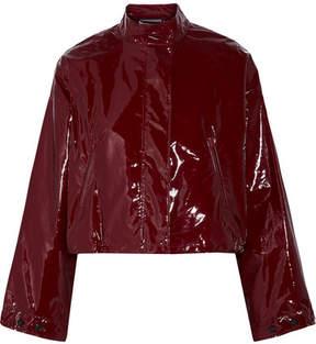 3.1 Phillip Lim Cropped Vinyl Jacket - Burgundy