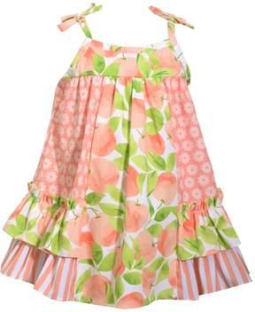 Bonnie Jean Toddler Girl Peach & Flower Sundress