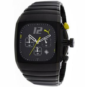 Puma Charger PU101391001 Men's Black Stainless Steel Chronograph Watch