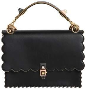 Fendi Medium Kan I Scalloped Leather Bag