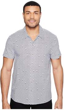 Kenneth Cole Sportswear Short Sleeve Arch Camp Shirt Men's Clothing