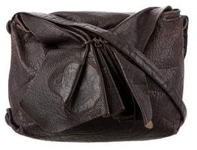 Carlos Falchi Leather Butterfly Bag
