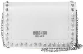 Moschino Studded Leather Wallet On Chain