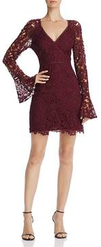 Astr Juliette Bell Sleeve Lace Dress