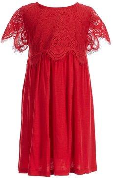 Copper Key Little Girls 4-6X Lace Popover Dress