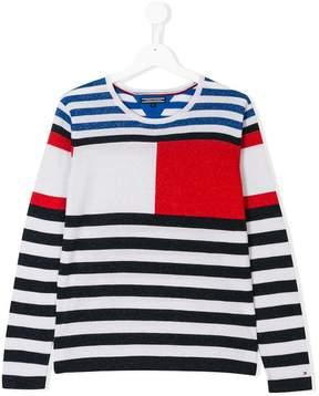 Tommy Hilfiger Junior glittery striped jumper
