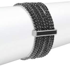 ABS by Allen Schwartz Black Magic Rhinestone Bracelet