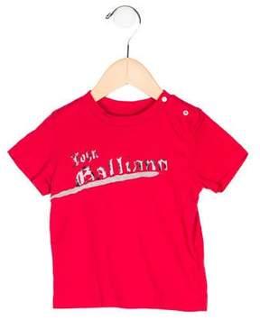 John Galliano Boys' Logo Print Short Sleeve Shirt