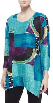 Berek 3/4-Sleeve Abstract-Print Tunic, Petite