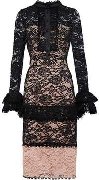 Alexis Beverly Two-Tone Corded Lace Dress