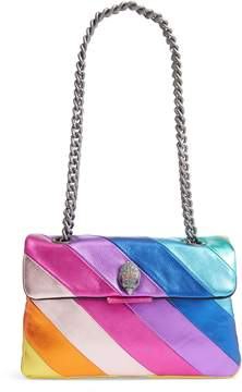 Kurt Geiger London Kensington Leather Rainbow Shoulder Bag