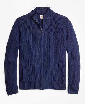 Brooks Brothers Wool-Blend Zip Cardigan