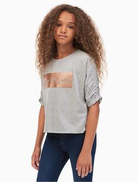 Calvin Klein Jeans Girls Metallic Knockout Logo T-Shirt
