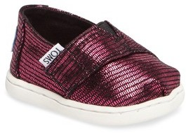 Toms Infant Girl's Alpargata Classic Print Slip-On