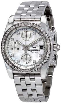 Breitling Chronomat 38 Diamondworks Mother of Pearl Dial Ladies Watch