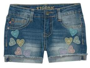 Vigoss Little Girl's My Heart Belongs Denim Shorts
