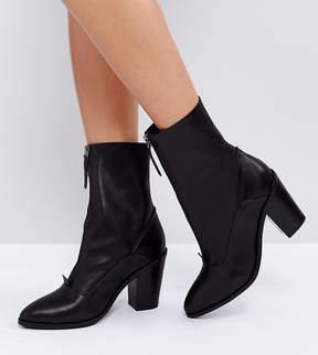 Asos EMPEROR Leather Zip Boots