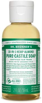 Dr. Bronner's Almond Castile Liquid Soap - Trial Size by 2oz Liquid Soap)