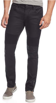 INC International Concepts Men's Moto Matrix Skinny Jeans, Created for Macy's