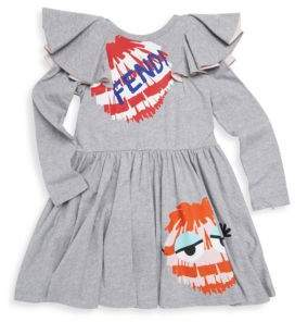 Fendi Toddler's, Little Girl's & Girl's Monster Cotton Dress