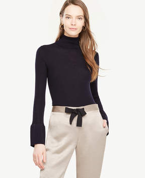 Ann Taylor Wide Cuff Ribbed Turtleneck Sweater