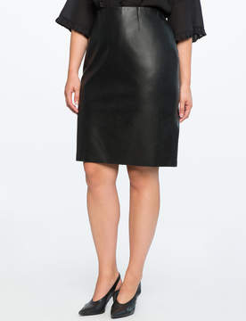 ELOQUII Studio Faux Leather Pencil Skirt
