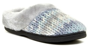 Dearfoams Chunky Faux Fur Trim Space Clog