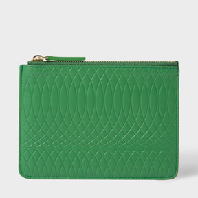 Paul Smith No.9 - Green Leather Zip Pouch