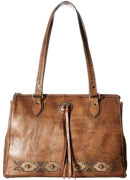 American West Native Sun Zip Top Tote w/ Secret Compartment Tote Handbags