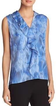 Elie Tahari Adreena Ruffled Sleeveless Silk Blouse - 100% Exclusive