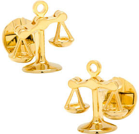 Cufflinks Inc. Moving Parts Gold Scales of Justice Cufflinks (Men's)