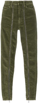Circus Hotel corduroy zip up trousers