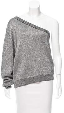 RtA Denim Metallic Knit Sweater