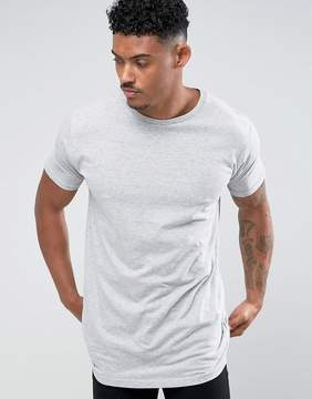 Brave Soul Longline Back Drop T-Shirt