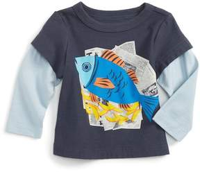 Tea Collection Fish & Chips Graphic Tee (Baby Boys)
