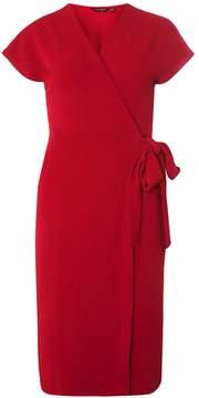 Dorothy Perkins Wine Crepe Wrap Dress