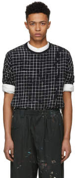 Haider Ackermann Black and White Silk Anatase T-Shirt