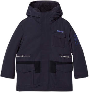 Ikks Navy 3 in 1 Hooded Parka and Bomber Jacket