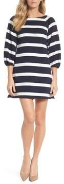Eliza J Stripe Balloon Sleeve Shift Dress