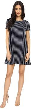 Brigitte Bailey Uma Short Sleeve Striped Dress Women's Dress