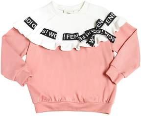 Fendi Milano Jersey & Neoprene Sweatshirt