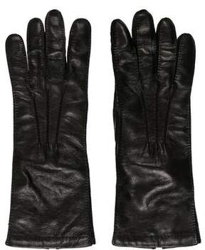 Prada Leather Cashmere-Lined Gloves